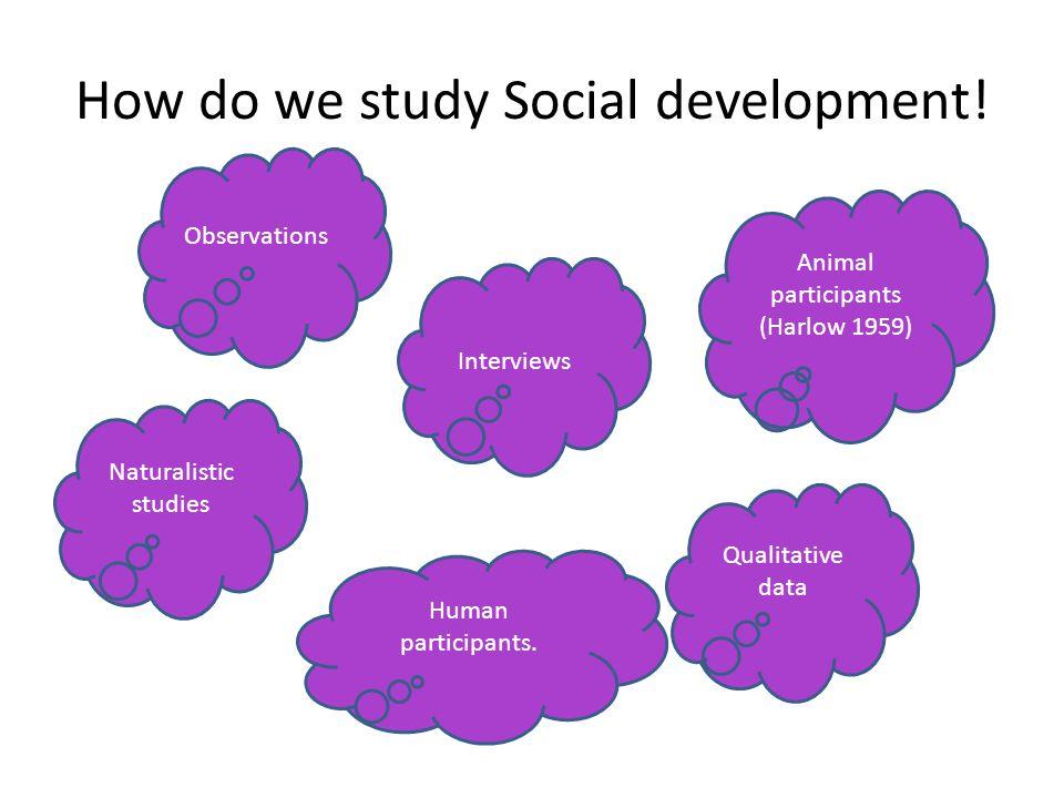 How do we study Social development!