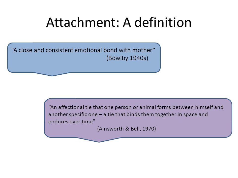 Attachment: A definition