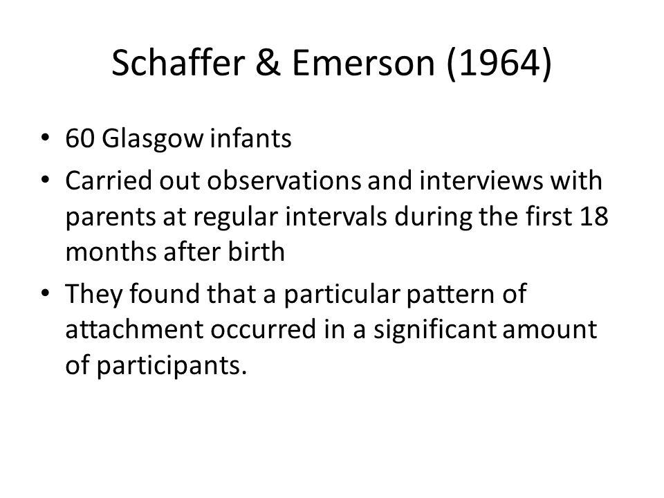 Schaffer & Emerson (1964) 60 Glasgow infants