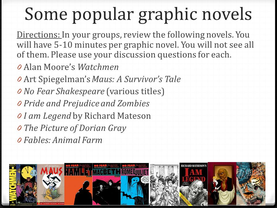 Some popular graphic novels