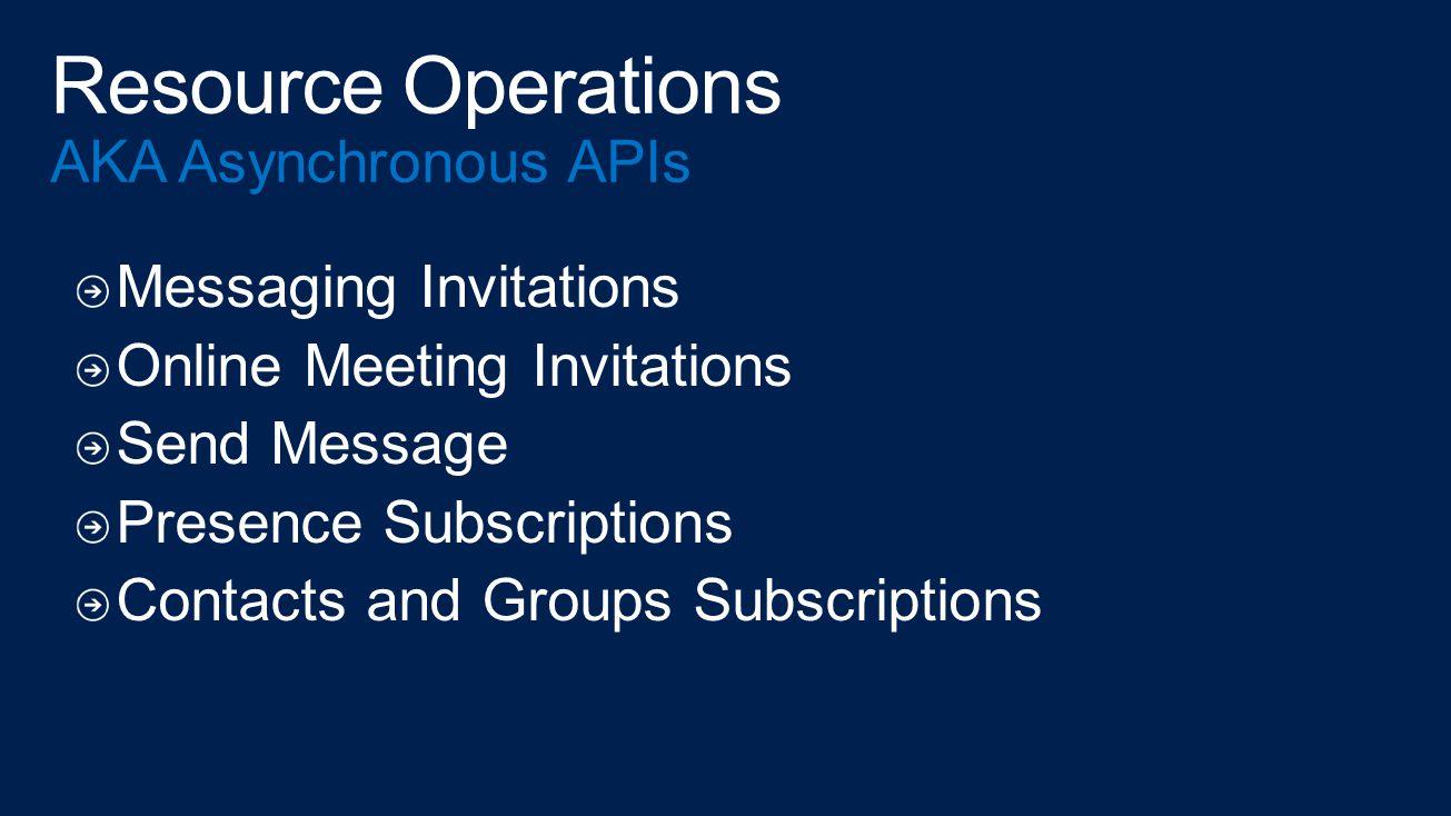 Resource Operations AKA Asynchronous APIs