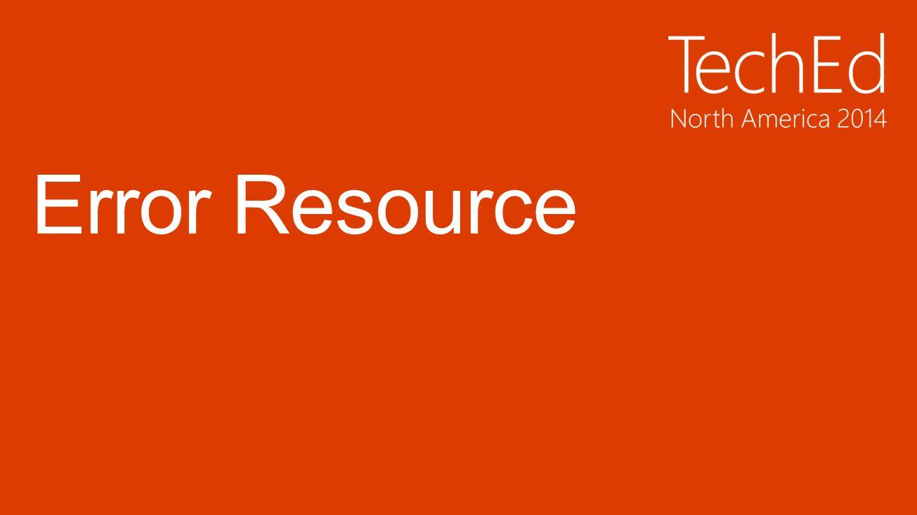 Error Resource
