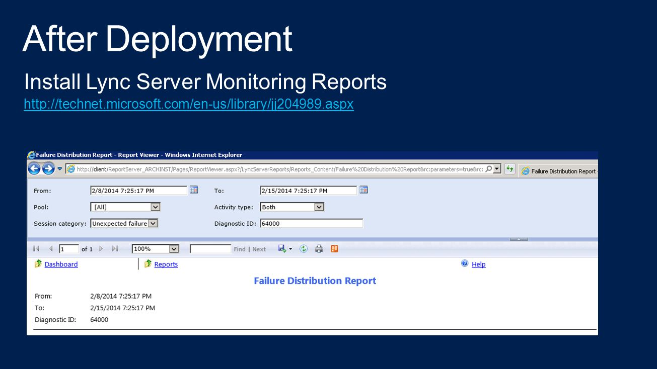 After Deployment Install Lync Server Monitoring Reports