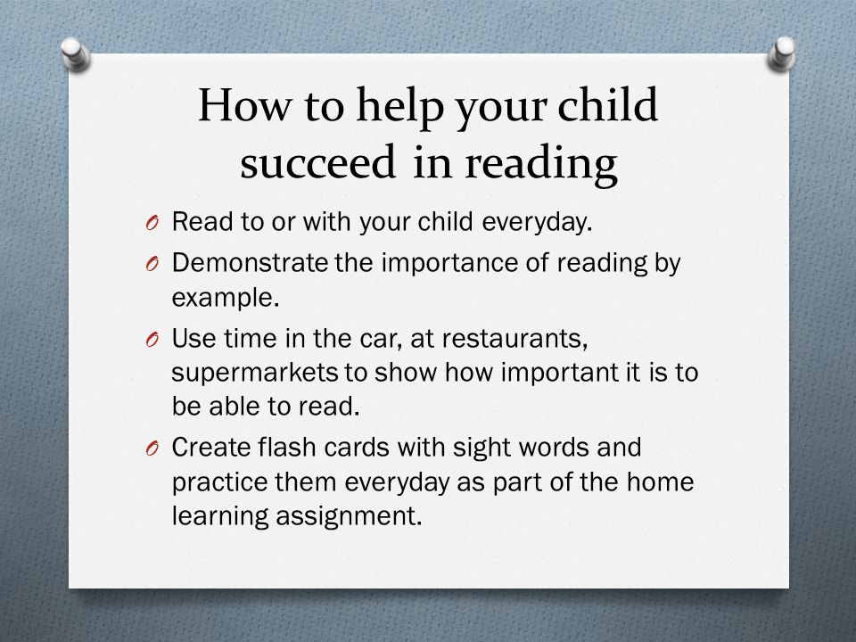 How to help your child succeed in reading