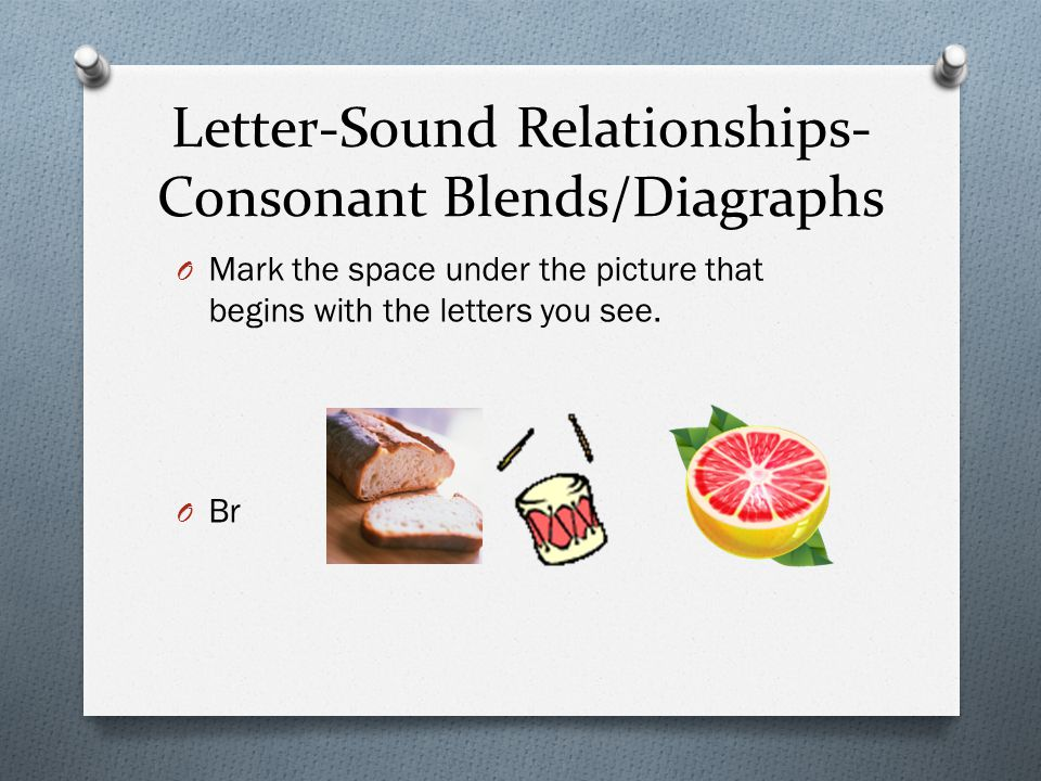 Letter-Sound Relationships-Consonant Blends/Diagraphs