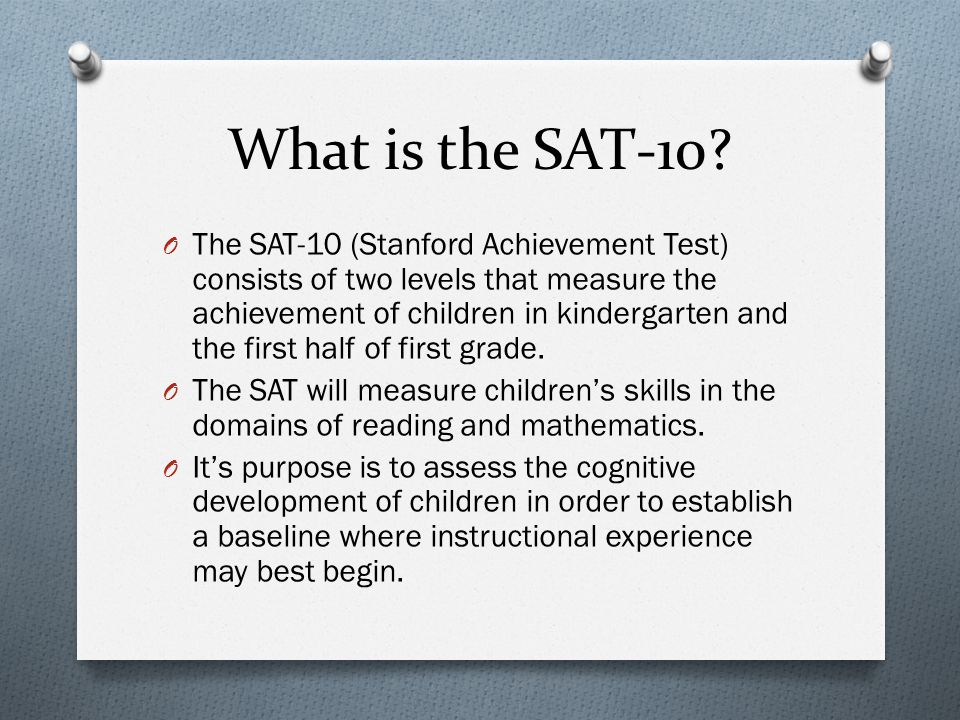 What is the SAT-10