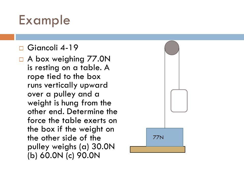 Example Giancoli 4-19.