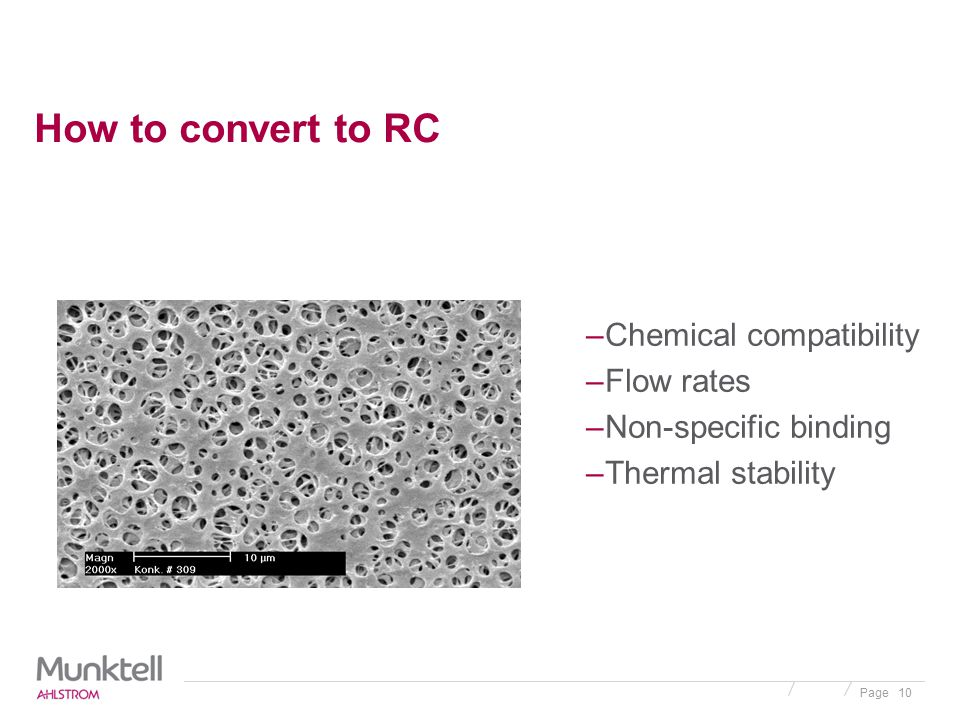 How to convert to RC Chemical compatibility Flow rates