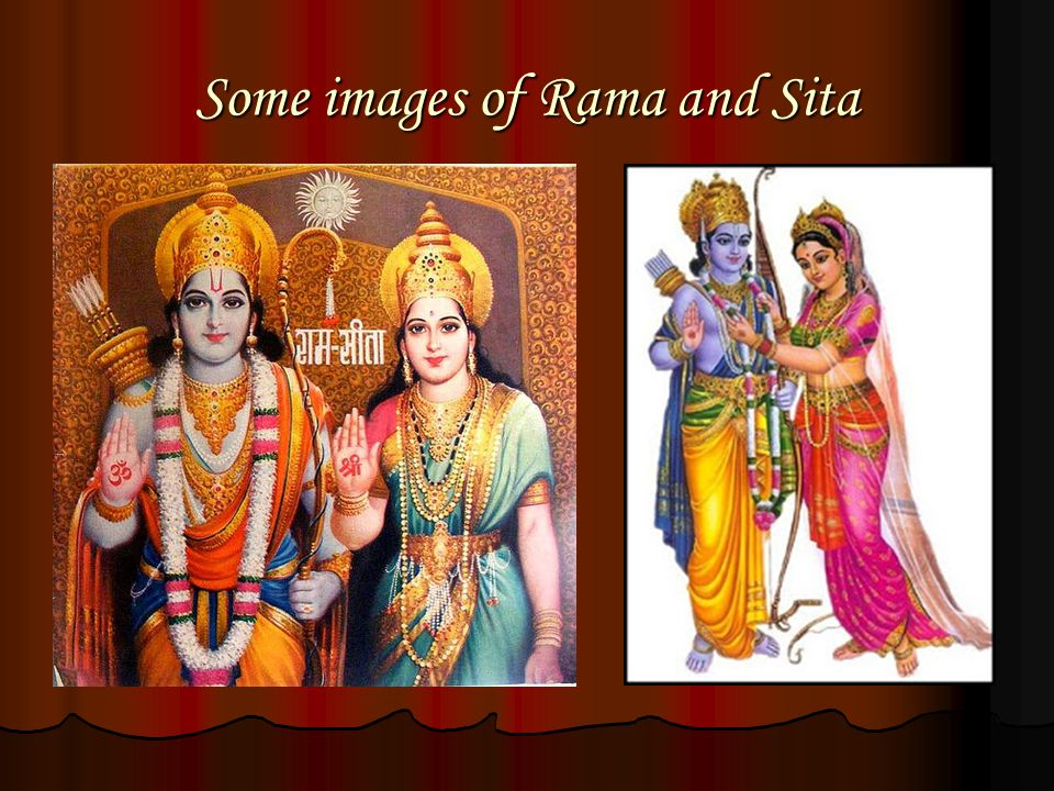 Some images of Rama and Sita
