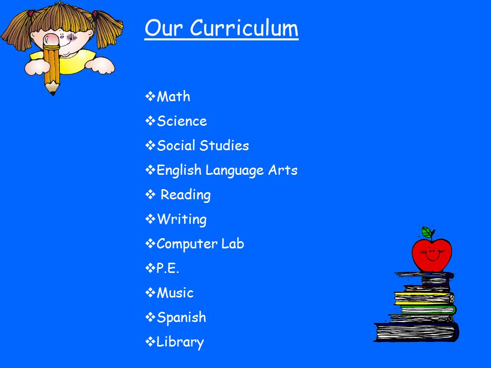 Our Curriculum Math Science Social Studies English Language Arts