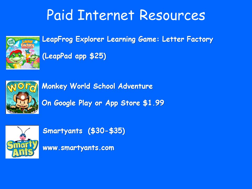 Paid Internet Resources