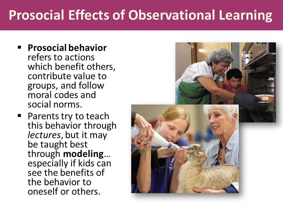Prosocial Effects of Observational Learning