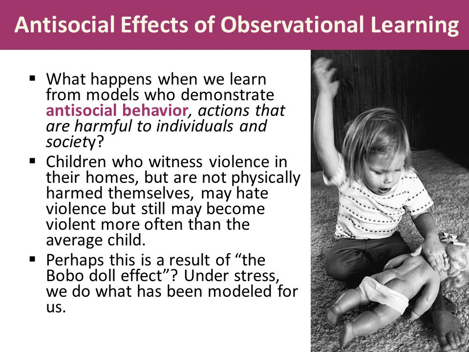 Antisocial Effects of Observational Learning