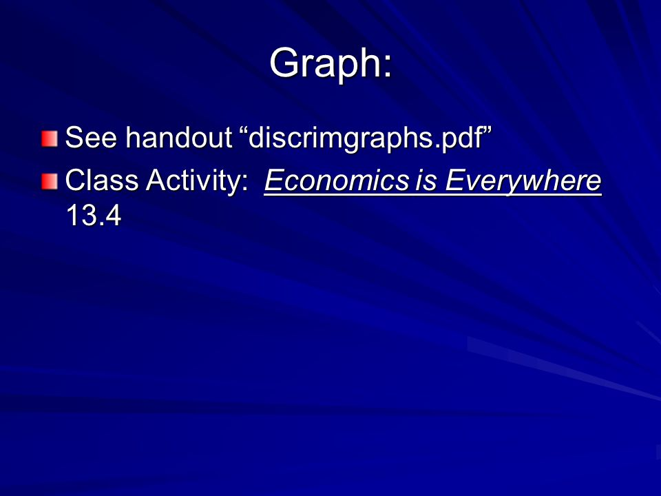 Graph: See handout discrimgraphs.pdf