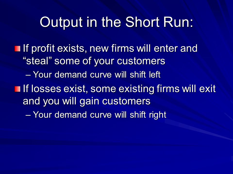 Output in the Short Run: