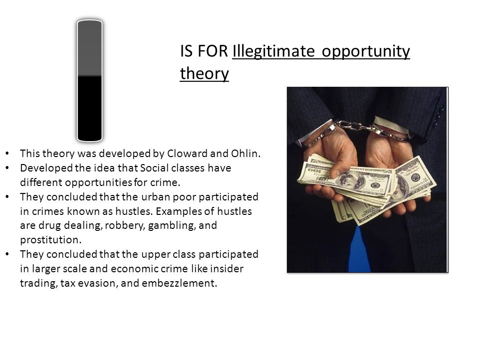 I IS FOR Illegitimate opportunity theory