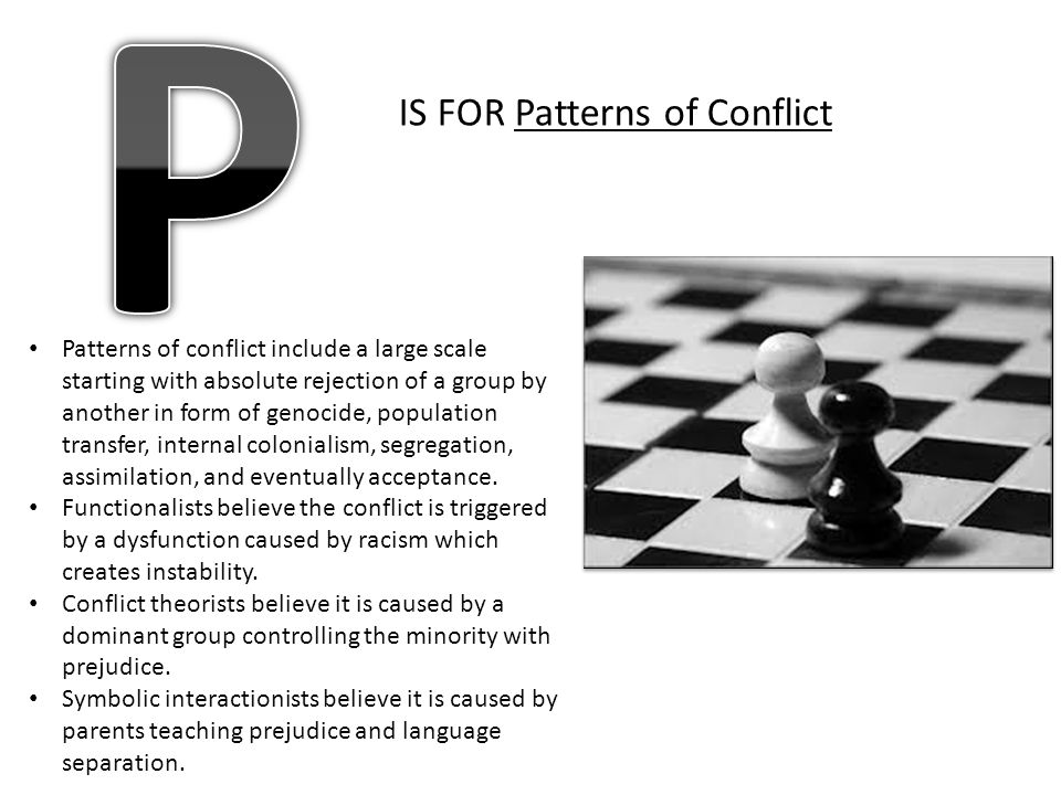 P IS FOR Patterns of Conflict
