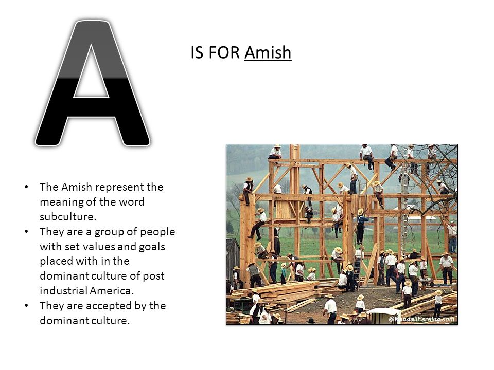 kyle whitney s alphabet book ppt video online  a is for amish the amish represent the meaning of the word subculture