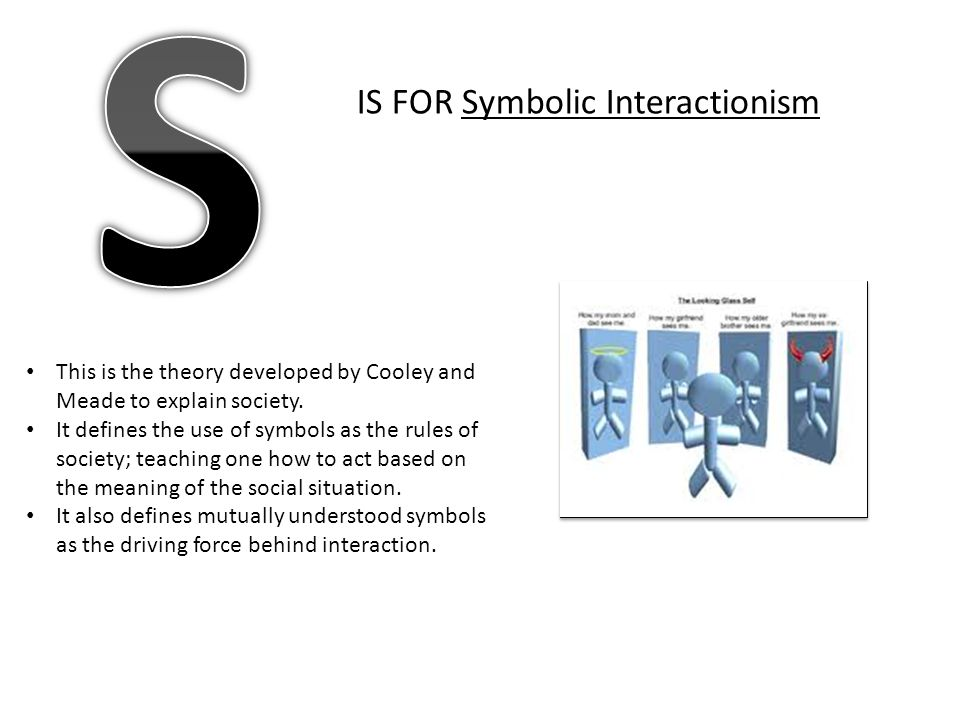 S IS FOR Symbolic Interactionism