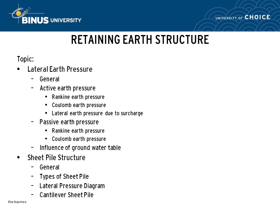 RETAINING EARTH STRUCTURE
