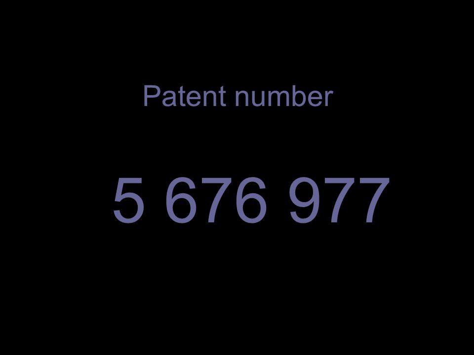 Patent number 5 676 977