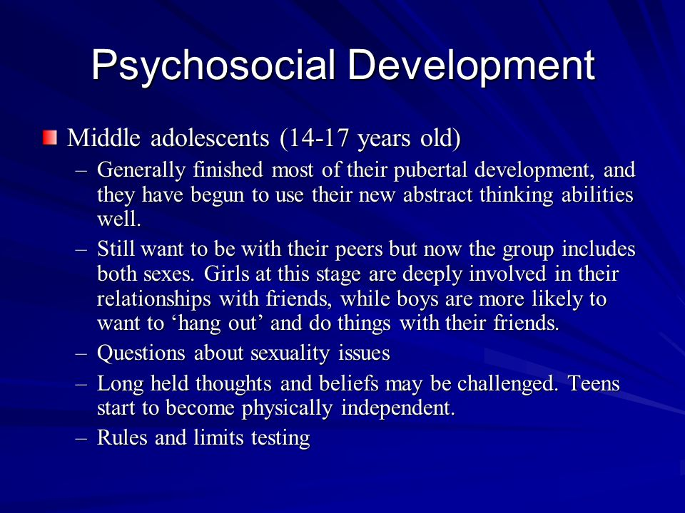 Psychosocial Development