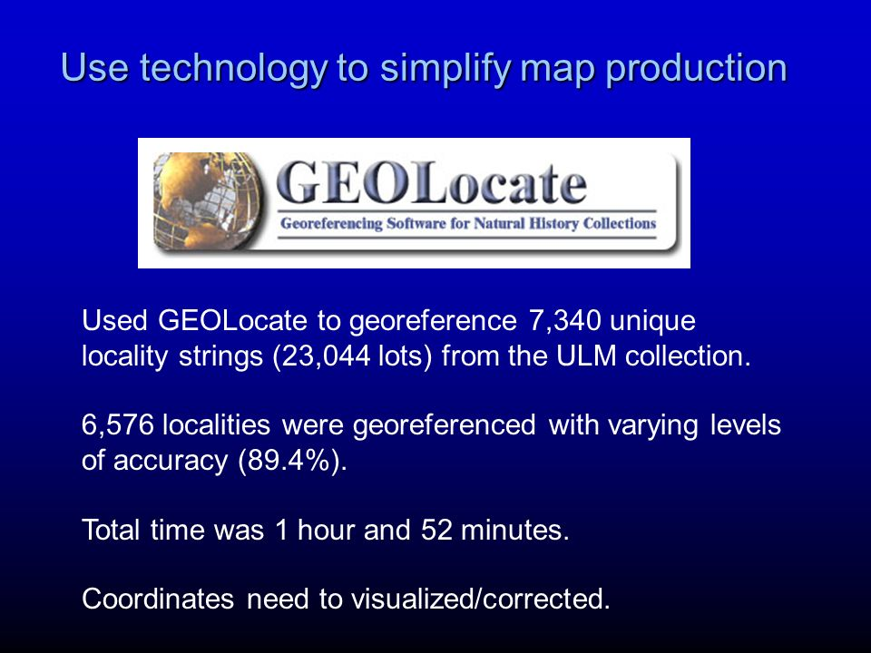 Use technology to simplify map production