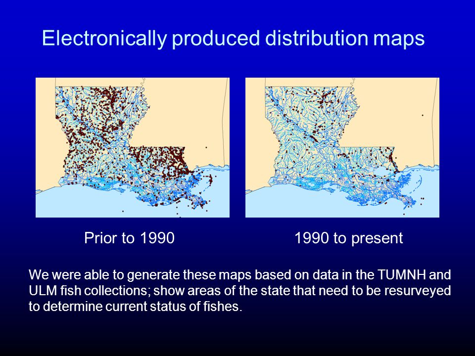 Electronically produced distribution maps