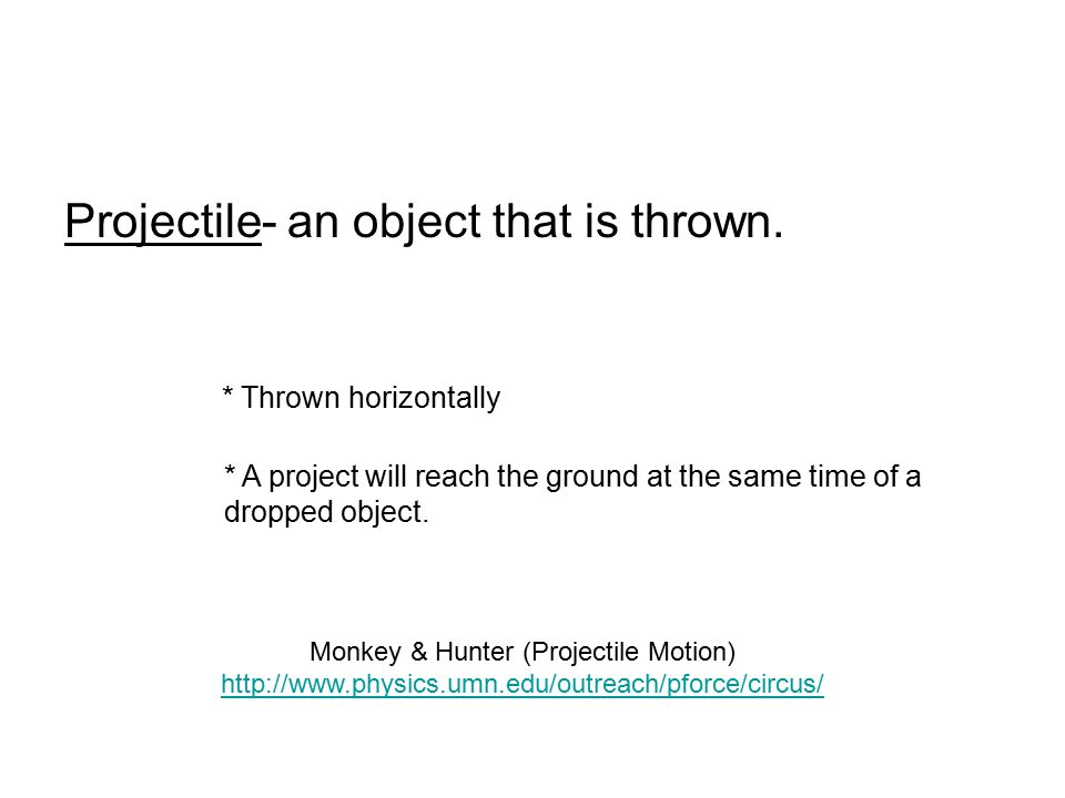 Monkey & Hunter (Projectile Motion)