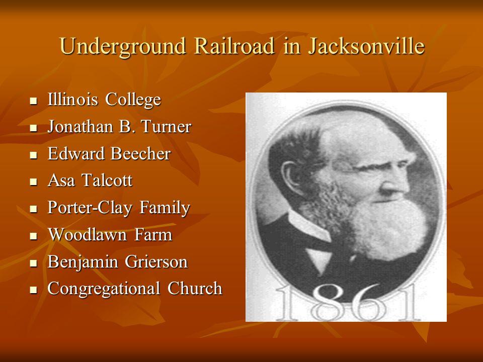 Underground Railroad in Jacksonville