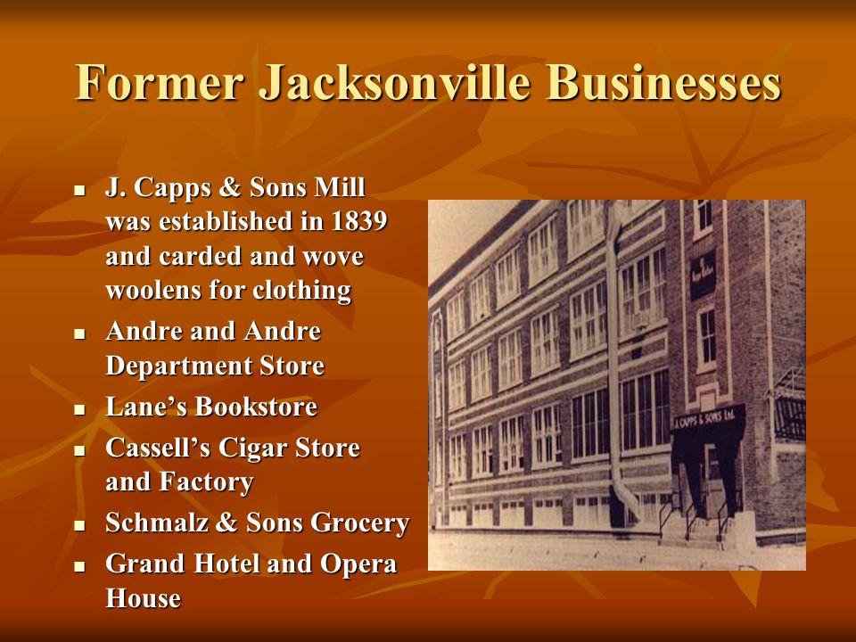 Former Jacksonville Businesses
