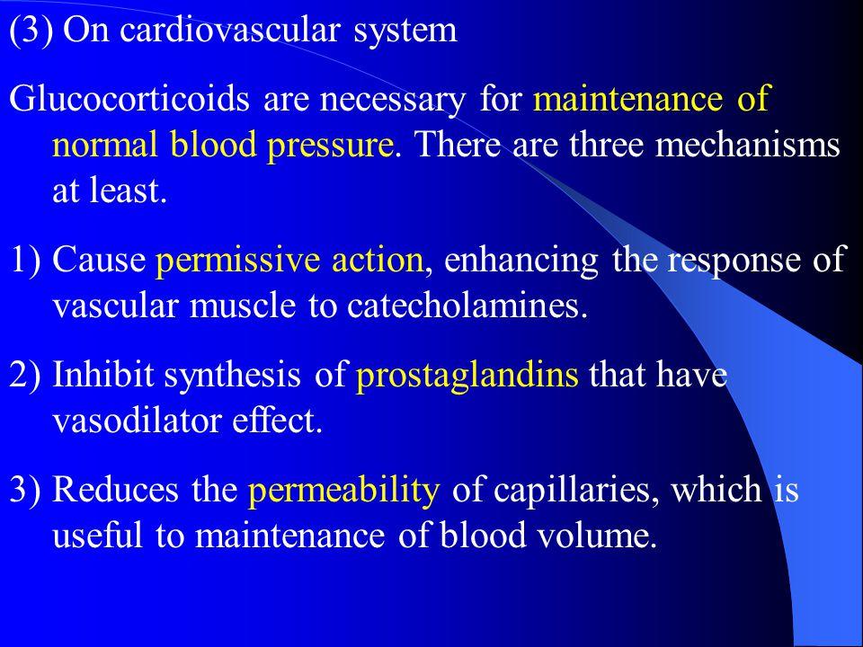 (3) On cardiovascular system