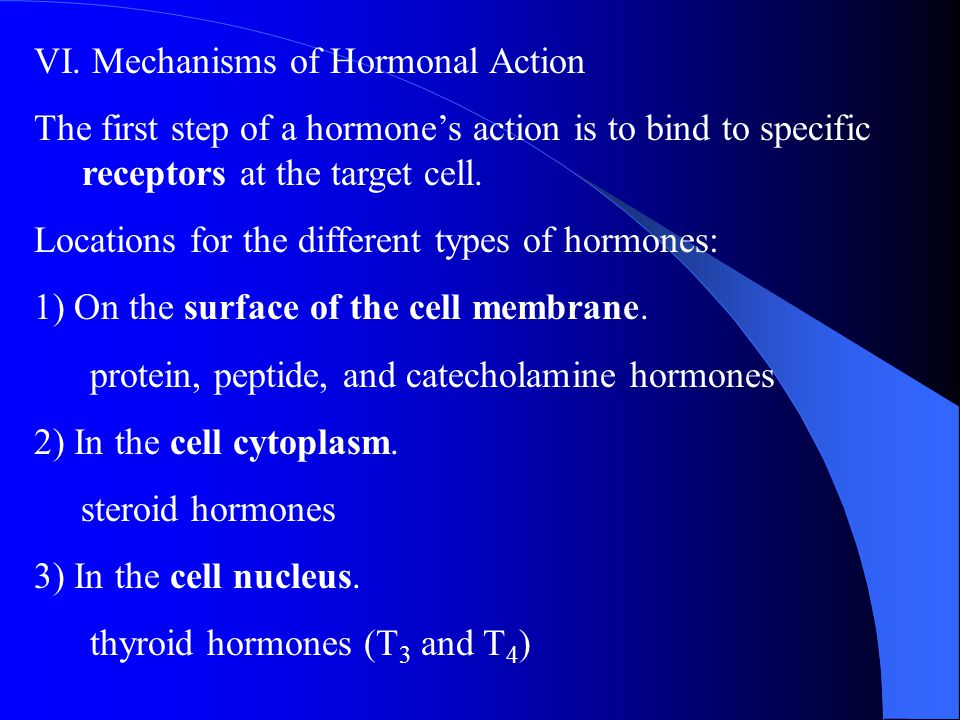 VI. Mechanisms of Hormonal Action