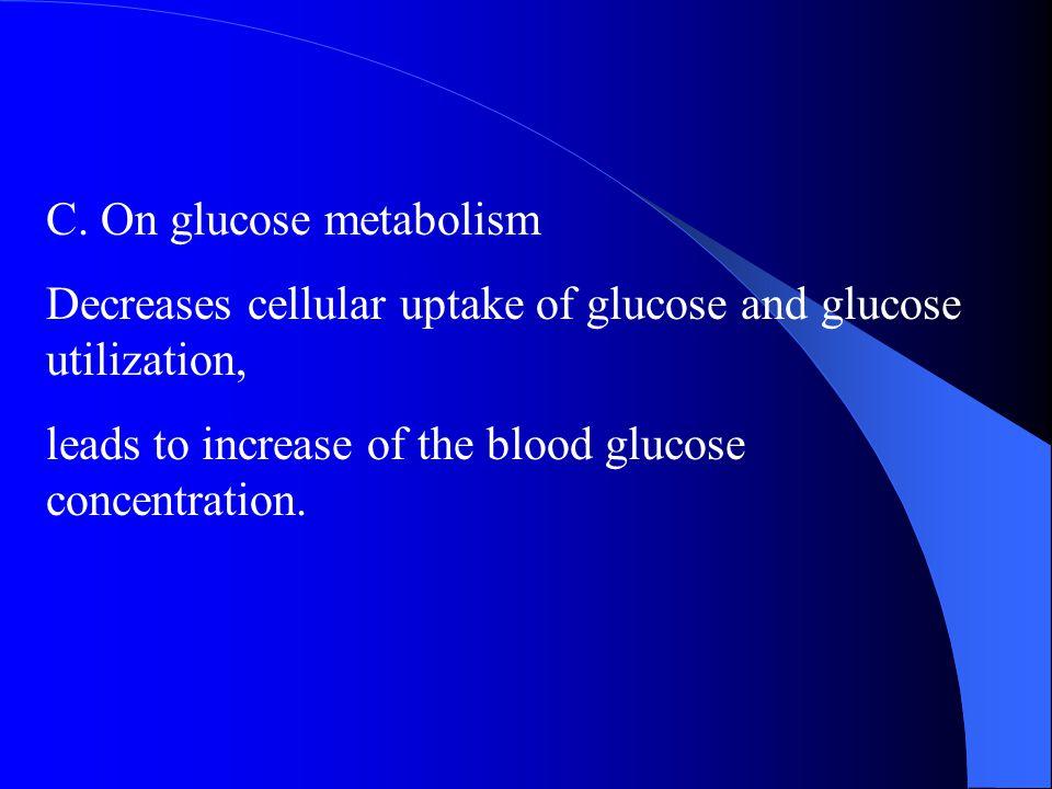 C. On glucose metabolism
