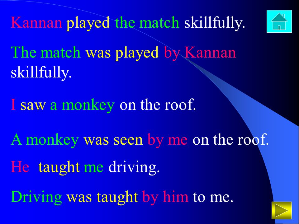 Kannan played the match skillfully.