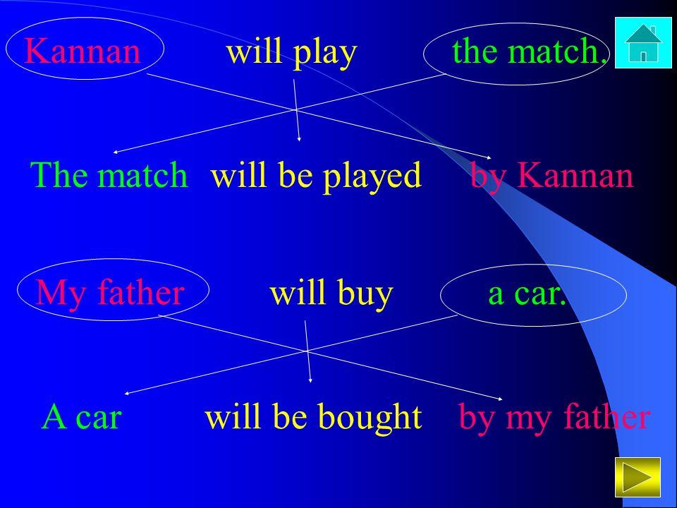 Kannan will play the match.