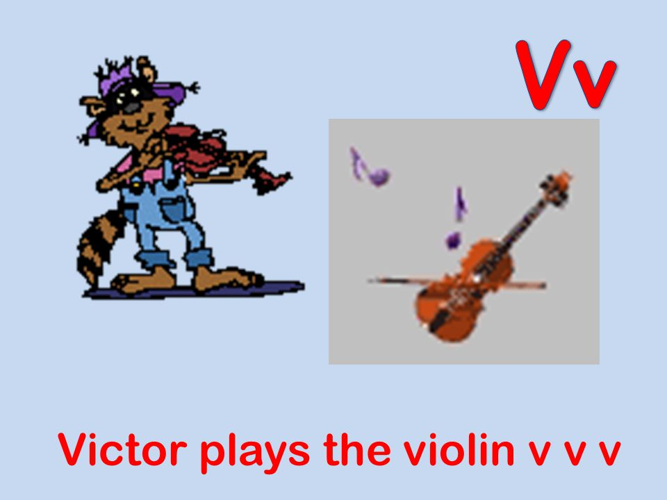 Vv Victor plays the violin v v v