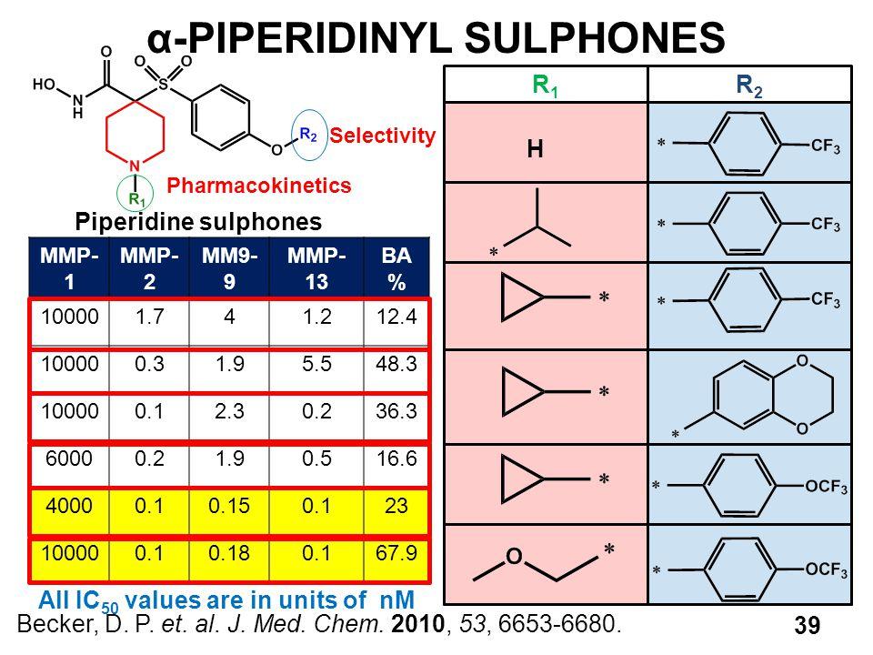 α-PIPERIDINYL SULPHONES