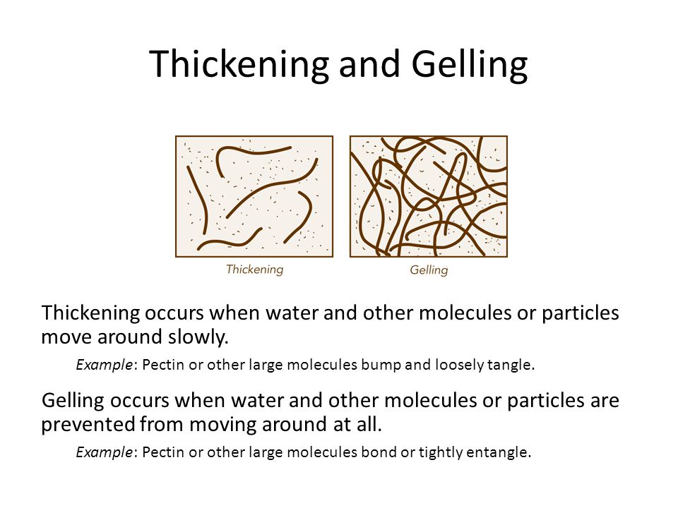 Thickening and Gelling