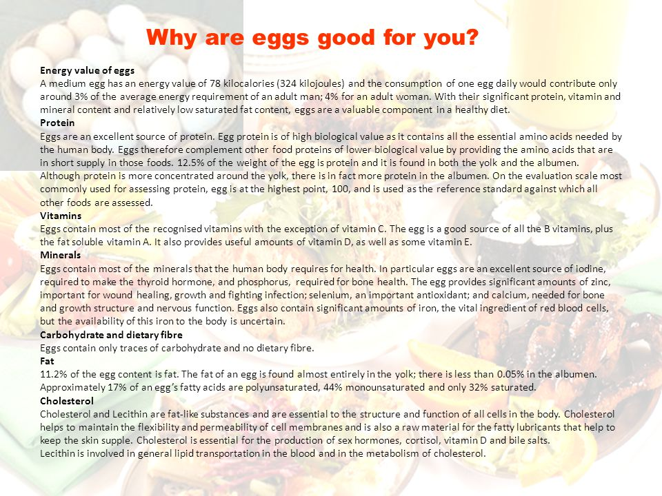 Why are eggs good for you