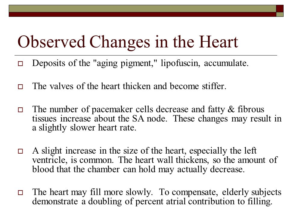 Observed Changes in the Heart