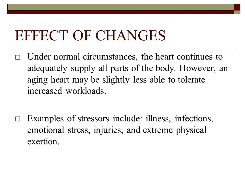 EFFECT OF CHANGES