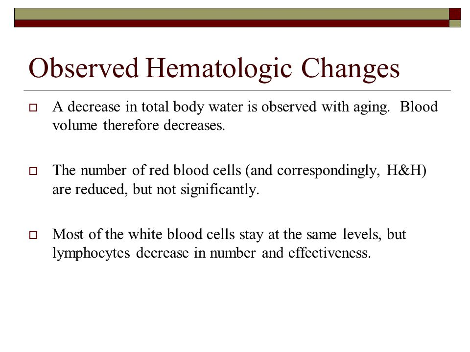 Observed Hematologic Changes
