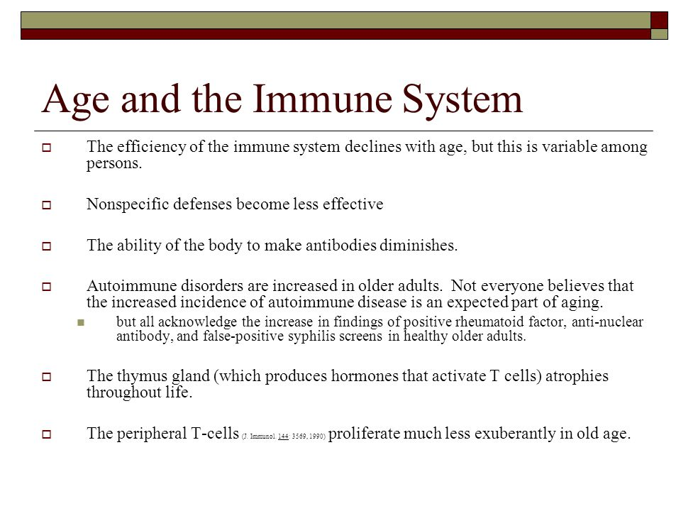 Age and the Immune System