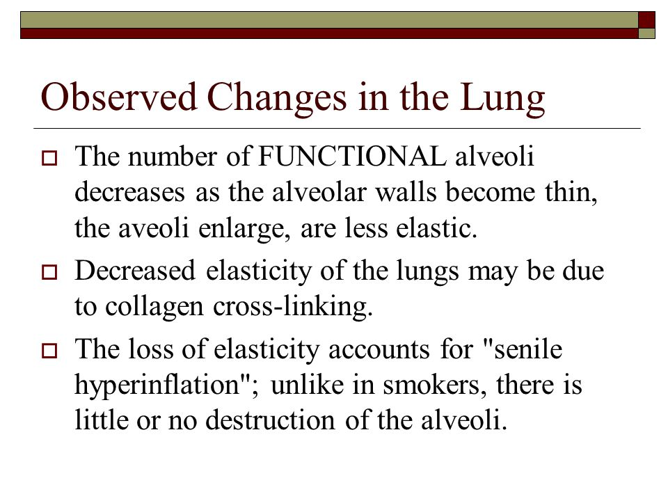 Observed Changes in the Lung