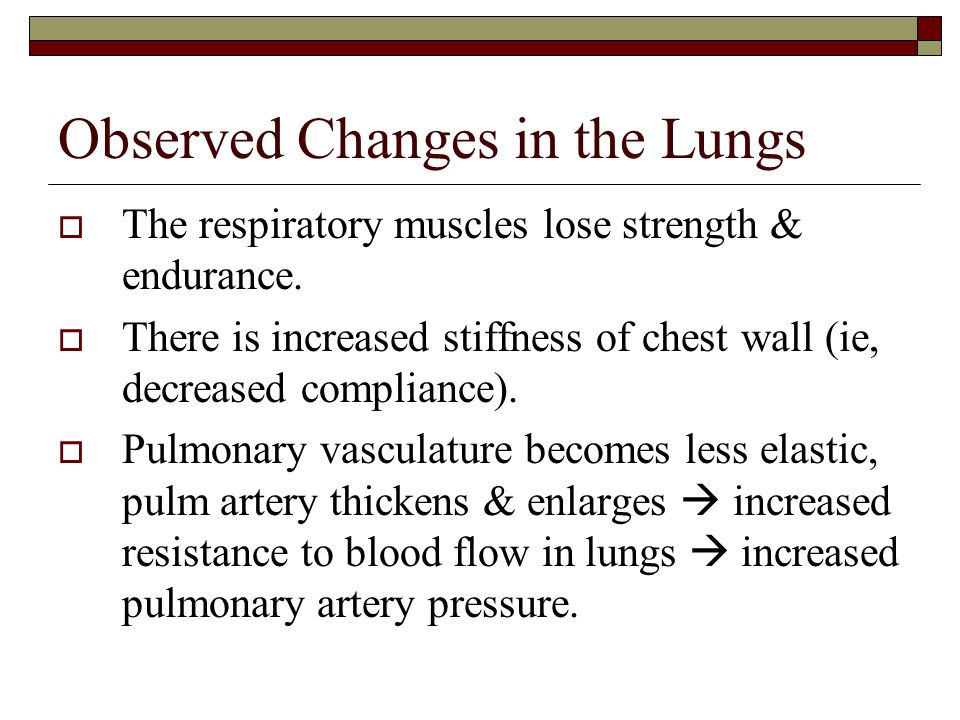 Observed Changes in the Lungs
