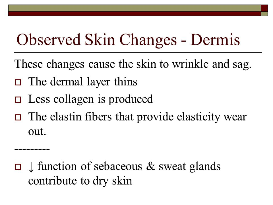 Observed Skin Changes - Dermis