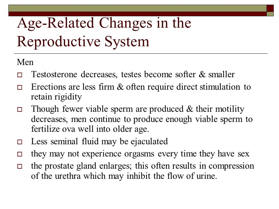 Age-Related Changes in the Reproductive System