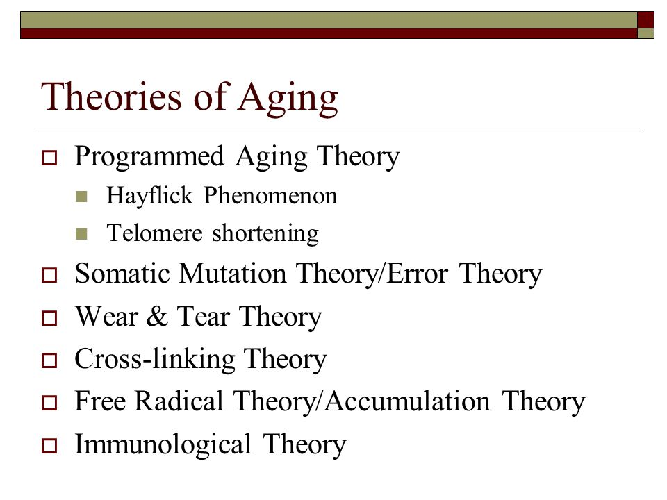Theories of Aging Programmed Aging Theory