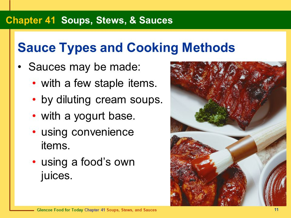 Sauce Types and Cooking Methods
